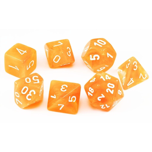 Chessex Festive Flare/White Polyhydral Set