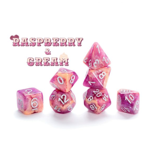 Gate Keeper Games Aether Dice Raspberry and Cream