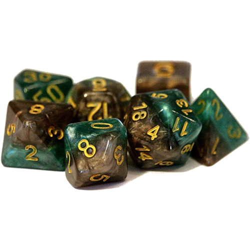 Gate Keeper Games Halfsies Dice Treant (7 dice poly set)