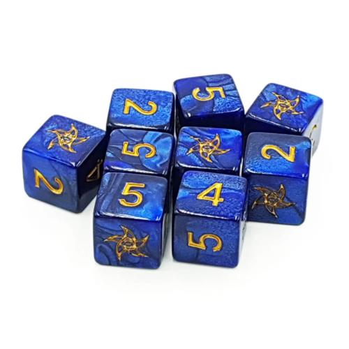 - Elder Dice- D6- Blue Astral (9)