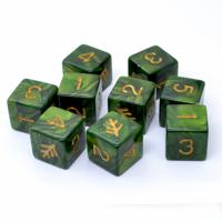 Elder Dice- D6- Lovecraft Green (9)