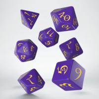 Purple & Yellow Classic RPG Dice set (7)