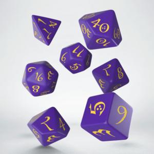 Q-Workshop Purple & Yellow Classic RPG Dice set (7)