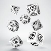 Black & White Dragons Dice Set of 7