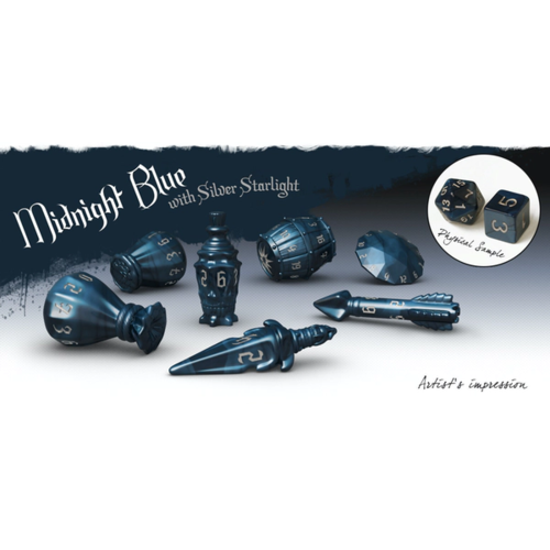 Midnight Blue - PolyHero Rogue Dice