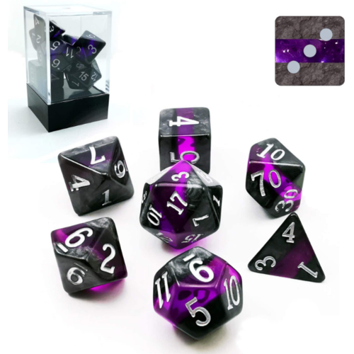 Awesome Dice Mineral Amethyst Polyhedral 7-dice Set