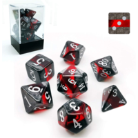 Mineral Ruby Polyhedral 7-dice Set