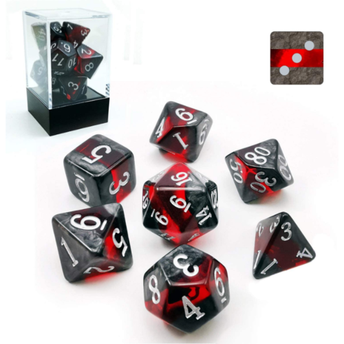 Awesome Dice Mineral Ruby Polyhedral 7-dice Set