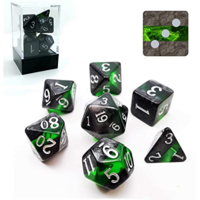 Mineral Emerald Polyhedral 7-dice Set