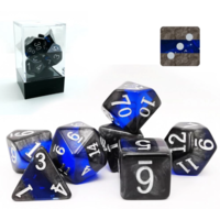 Mineral Sapphire Polyhedral 7-dice Set