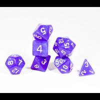 Moon Stone Purple Pearl Polyhedral 7-dice Set