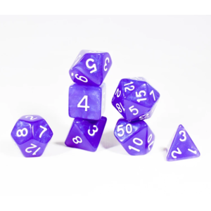 Awesome Dice Moon Stone Purple Pearl Polyhedral 7-dice Set