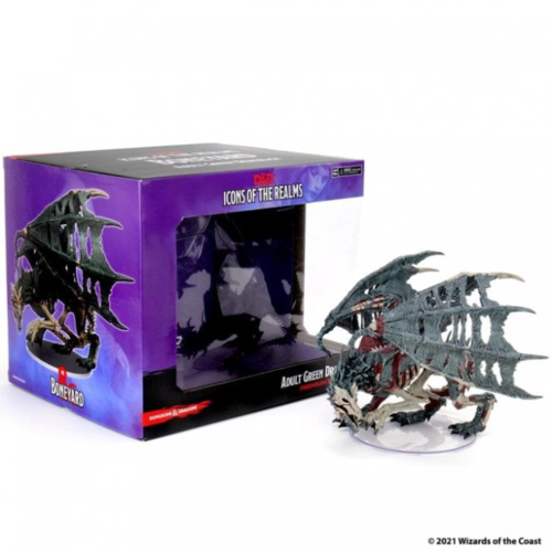 Wizk!ds Green Dracolich- D&D Icons of the Realms- Boneyard Premium Set