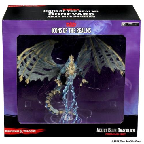 Wizk!ds Blue Dracolich- D&D Icons of the Realms- Boneyard Premium Set