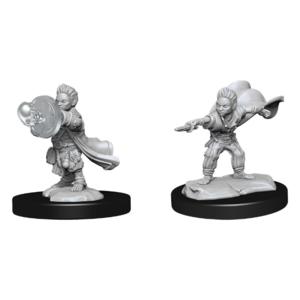 Wizk!ds Unpainted Miniatures: Halfling Wizard Male