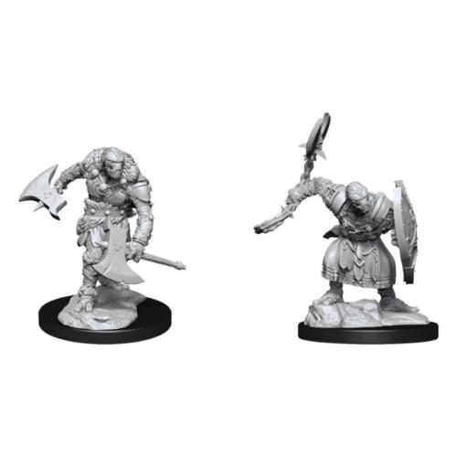 D&D Nolzurs unpainted Miniatures; Warforged Barbarian
