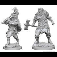 Unpainted Miniatures;  Human Barbarian Male
