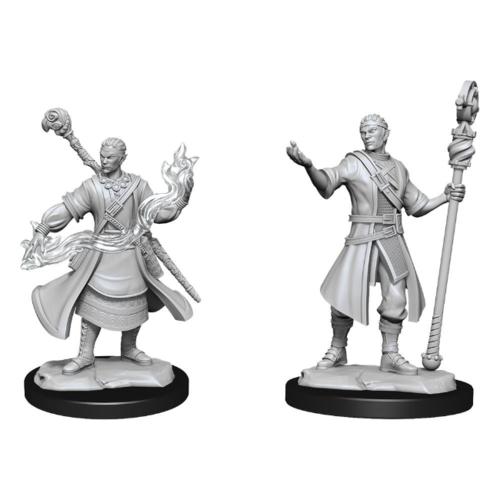 Wizk!ds Unpainted Miniatures - Half-Elf Wizard Male