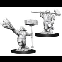 Unpainted Miniatures - Dwarf Cleric Male (WZK90222)