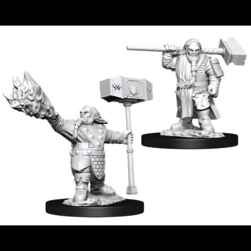 Wizk!ds Unpainted Miniatures - Dwarf Cleric Male (WZK90222)