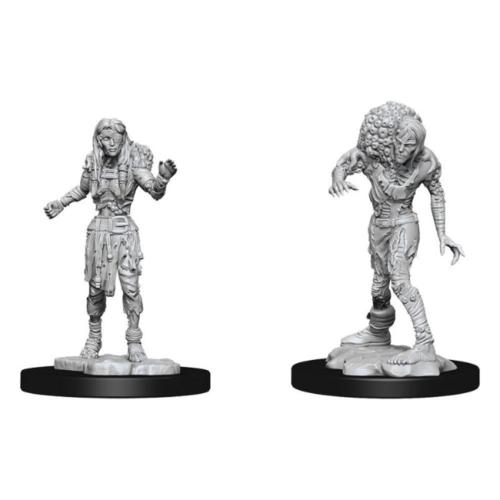 D&D Nolzurs unpainted Miniatures; Drowned Assassin & Drowned Ascetic