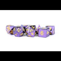 16mm Purple with Gold Numbers Polyhedral 7-die Set