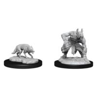 D&D Nolzur's Marvelous Miniatures - Jackalwere & Jackal