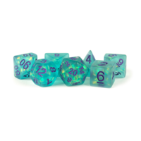 16mm Acrylic Dice Set Purple/Teal with Blue