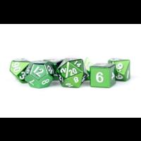 Metallic Polyhydral Dice Set- Green 16mm