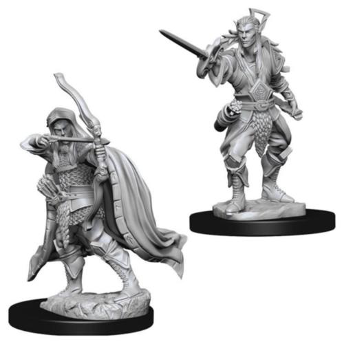 Wizk!ds Unpainted Miniatures- Elf Male Rogue