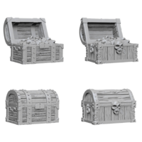 Unpainted Miniatures- Chests (PF)