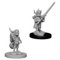 Unpainted Miniatures- Halfling Male Fighter (5E)