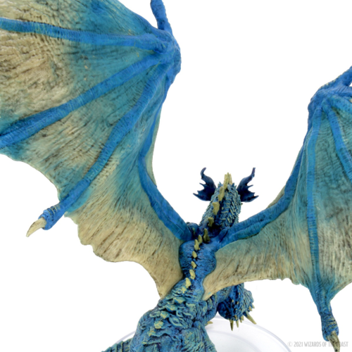 Wizk!ds D&D Icons of the Realm- Adult Blue Dragon Premium Figure (painted)