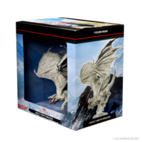 D&D Icons of the Realm- Adult White Dragon Premium Figure (painted)