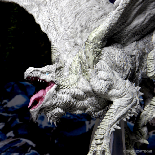 Wizk!ds D&D Icons of the Realm- Adult White Dragon Premium Figure (painted)