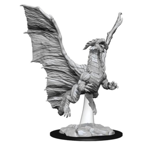 Wizk!ds Unpainted Miniatures- Young Copper Dragon