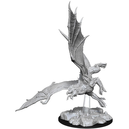 Wizk!ds Unpainted Miniatures- Young Green Dragon