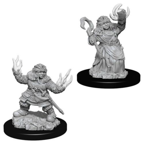 Wizk!ds Unpainted Miniatures- Dwarf Female Summoner