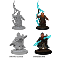 Unpainted Miniatures- Dwarf Male Sorcerer (PF)