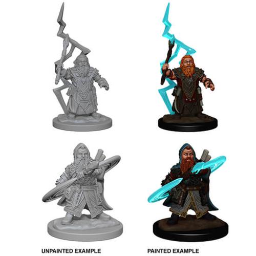 Wizk!ds Unpainted Miniatures- Dwarf Male Sorcerer (PF)
