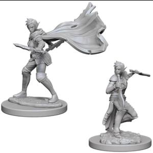 Wizk!ds Unpainted Miniatures- Elf Female Rogue