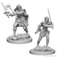 Unpainted Miniatures- Human Female Barbarian (5E)