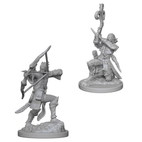 Wizk!ds Unpainted Miniatures- Elf Male Bard (5E)
