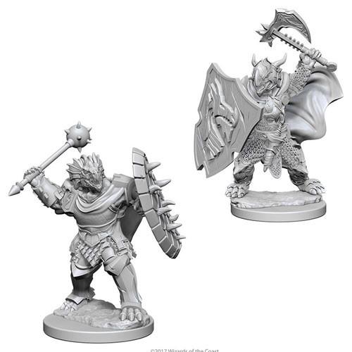 Wizk!ds Unpainted Miniatures- Dragonborn Male Paladin (WZK73200)