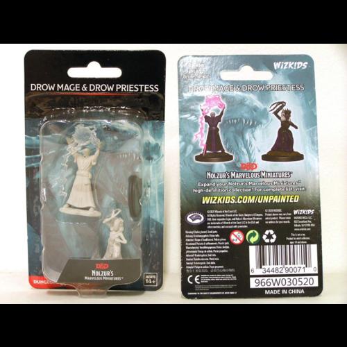 Unpainted Miniatures - Drow Mage & Drow Priestess