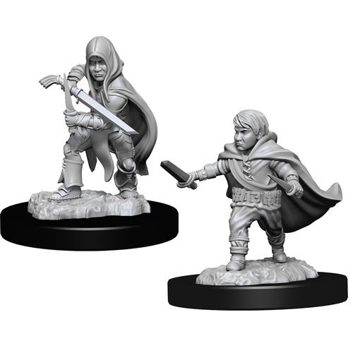Wizk!ds Unpainted Miniatures- Halfling Male Rogue (5E)