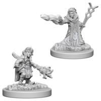 Unpainted Miniatures- Gnome Female Wizard (5E)