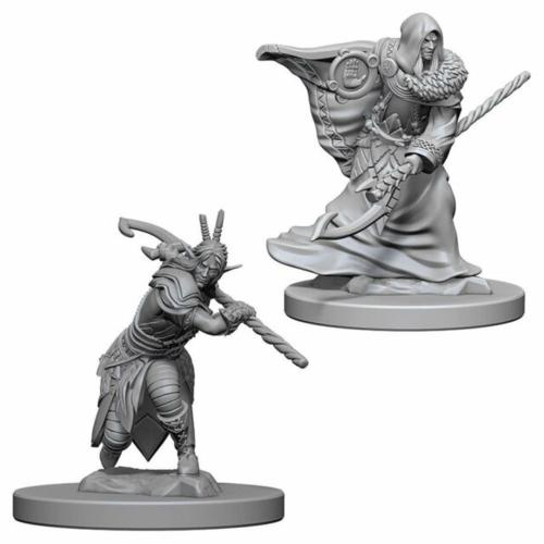 Wizk!ds Unpainted Miniatures- Elf Male Druid (5E)