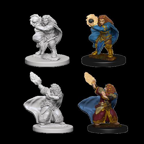 Wizk!ds Unpainted Miniatures- Dwarf Female Wizard (5E)