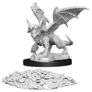 Wizk!ds Unpainted Miniatures - Blue Dragon Wyrmling